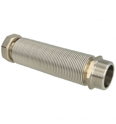 "Flexible corrugated stainless steel pipe extendable 1"" 75 - 130 mm"