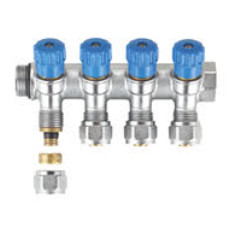 "MHS Multilayer Manifold & Valves Blue 4 port 3/4""X16MM"