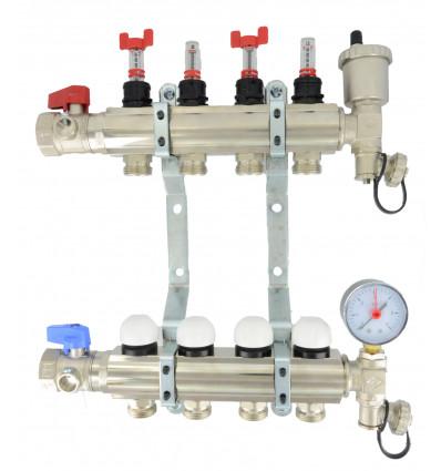 "Underfloor Heating Manifold 1"" 10 Port"
