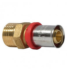 Multilayer Crimp Coupling Male straight  16mm X 1/2