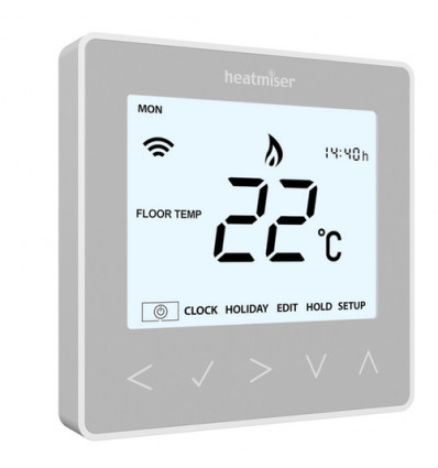Heatmiser NeoStat Programmable Thermostat Platinum Silver